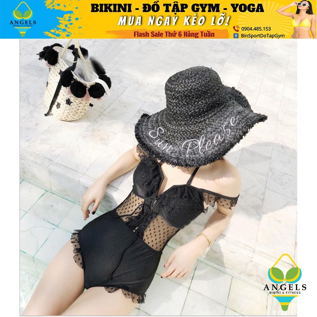 Bikini,Bộ Đồ Bơi Body Phối Voan Cao Cấp, 2 Màu Cam Đất, Đen , Hàng Nhập Đủ Size M L XL, BHN010