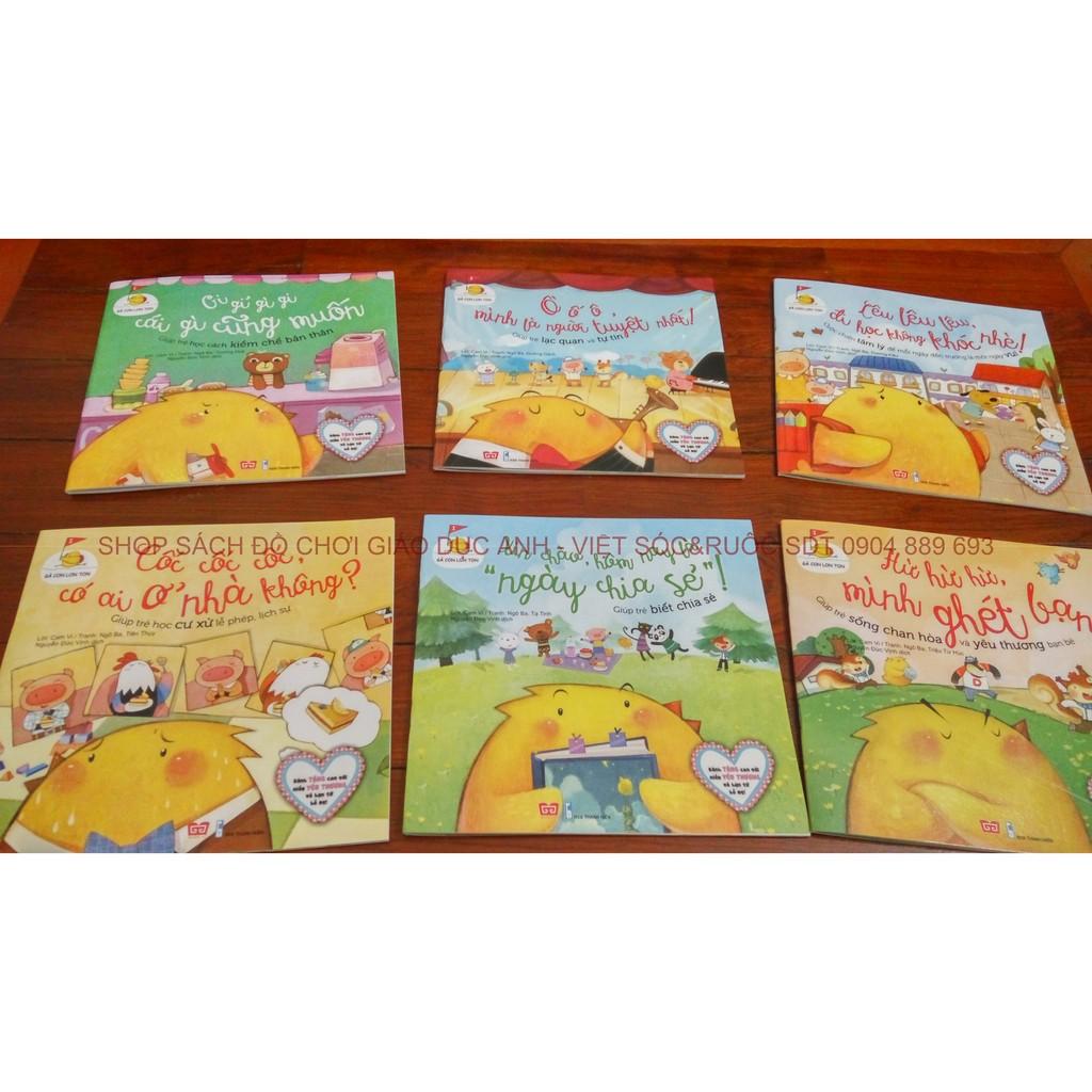 Sách truyện hay cho trẻ em: Gà con lon ton - Set 06 cuốn giáo dục tính cách - 2615554 , 56851687 , 322_56851687 , 150000 , Sach-truyen-hay-cho-tre-em-Ga-con-lon-ton-Set-06-cuon-giao-duc-tinh-cach-322_56851687 , shopee.vn , Sách truyện hay cho trẻ em: Gà con lon ton - Set 06 cuốn giáo dục tính cách