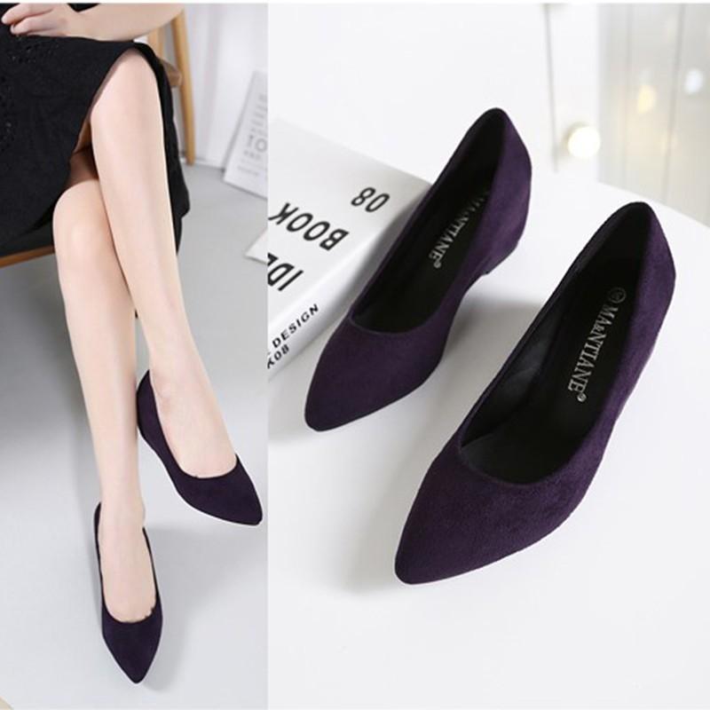 Giày cao gót da lộn thoải mái thời trang cho nữ