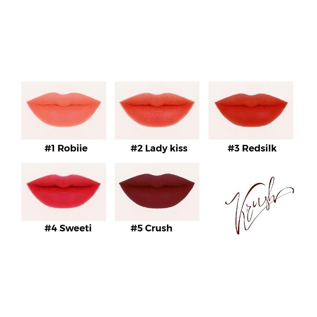 [MUA 1 TẶNG 1] Son Krush Matte Lipstick Organic [SIÊU HOT]