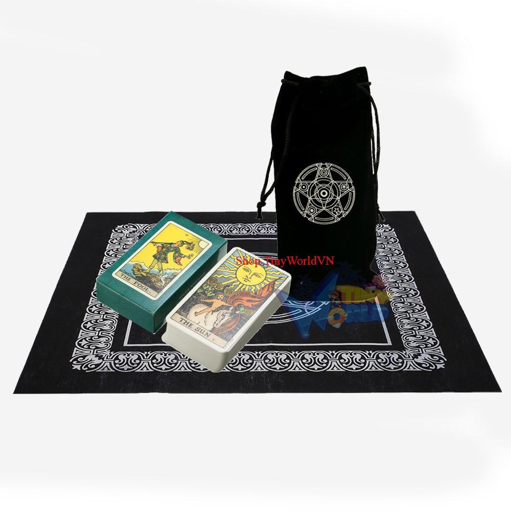 Combo Bộ Bài Tarot Bói Smith Waite Tarot và Túi Nhung Đựng Tarot và Khăn Trải Bàn Tarot