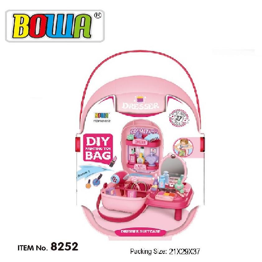Bộ đồ chơi nhập vai BOWA 8252 - Bộ trang điểm 32 chi tiết