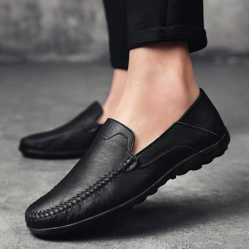 Giày lười chất liệu da cho nam