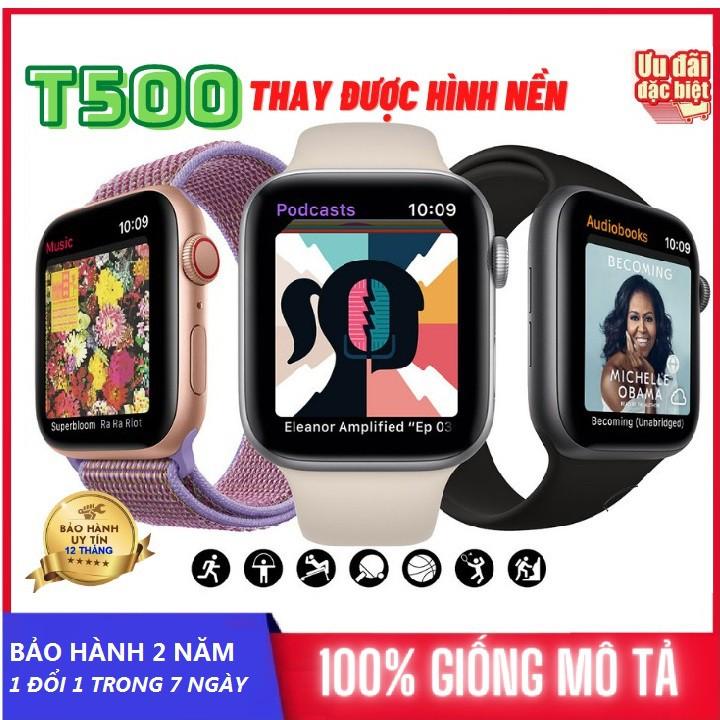 Đồng Hồ Thông Minh T500 seri 6 Nghe gọi kết nối bluetooth 5.0 Thay ảnh tùy ý , mặt 44mm , Bảo Hành 2 Năm