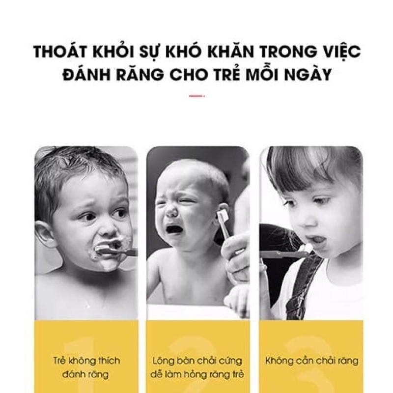 Bàn chải điện chữ U Tiếng Việt cho bé từ 2- 8 tuổi đánh răng tự động Wekome chính hãng an toàn, tiện lợi, hàng nội đị