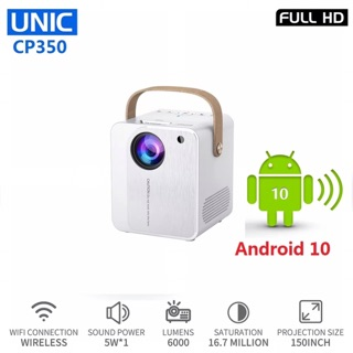 Máy Chiếu UNIC CP350 Di Động Thông Minh 4K Android 10 TV Box Hỗ Trợ WIFI 1080
