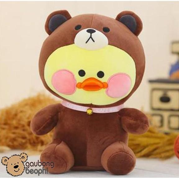 Thú Bông Mỏ Vịt Cosplay Gấu Brown - Cao 25cm - Màu Ngẫu Nhiên - Vải Nhung Siêu Mịn -...
