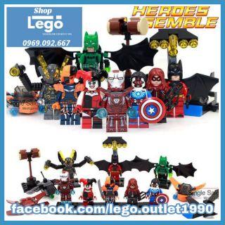 Xếp hình Harley Quinn - Batman - Iron Man - Falcon Yellow Jacket - Deathstroke - Batman - Arsenal Lego Minifigures Sy295 thumbnail