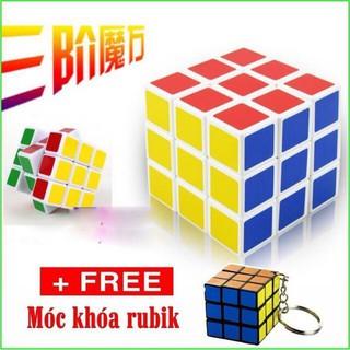 [GIÁ SỐC] Rubik đẹp, xoay trơn, không rít, độ bền cao, Rubik 3×3 Tặng kèm móc khóa [Vpp Minh Vy]