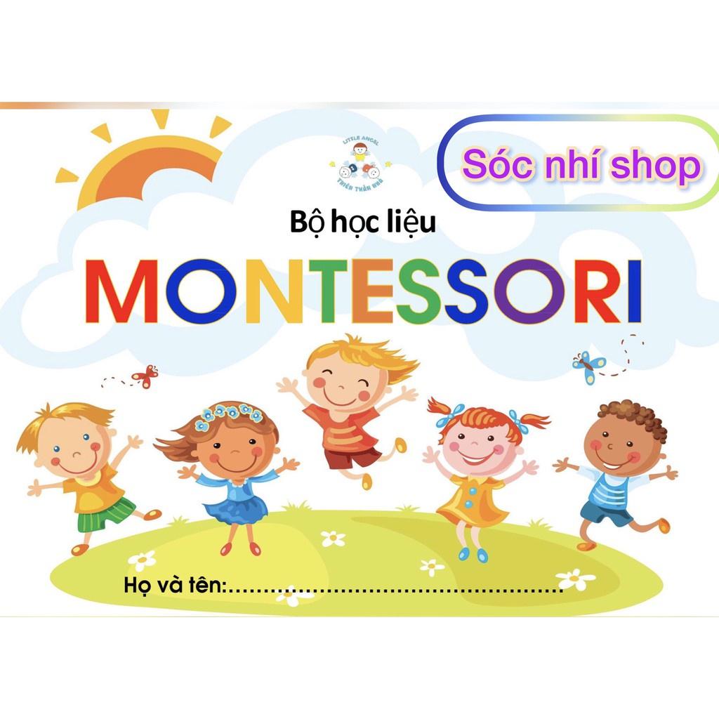 [Thiết Kế Chuẩn Montessori]Học Liệu Bóc Dán Háo Hức, Học Liệu Thiết Kế Chuẩn Montessori 14 Chủ Đề Giúp Bé Thông Minh