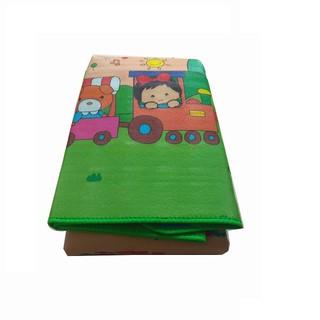 Thảm cotton mút xốp thông minh trải sàn, 2 mặt cho bé: kích thước 2,2m x 2m, dày 5mm