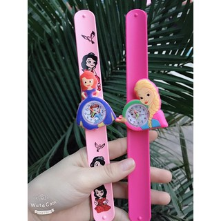 Đồng Hồ Điện Tử Dễ Thương Cho Bé - LHBV đồng hồ đeo tay hình búp bê elsa