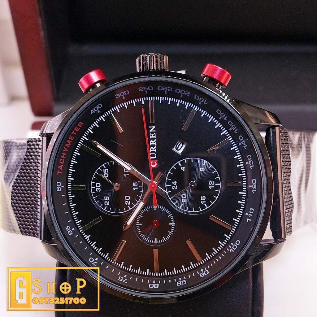 Đồng hồ nam CURREN 8257 : Dây Kim Loại lụa