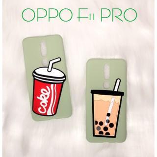 Ốp Silicon Dẻo GẮN nổi Ly Trà Sữa Trân Châu/Coca – Dành Cho OPPO F11 PRO
