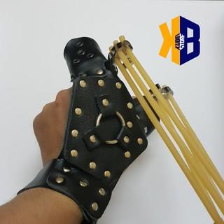 Bộ bao tay thép bảo vệ cho xạ thủ bắn ná thun – ná tên (Có lắc tay treo máy bắn cá tiện lợi)