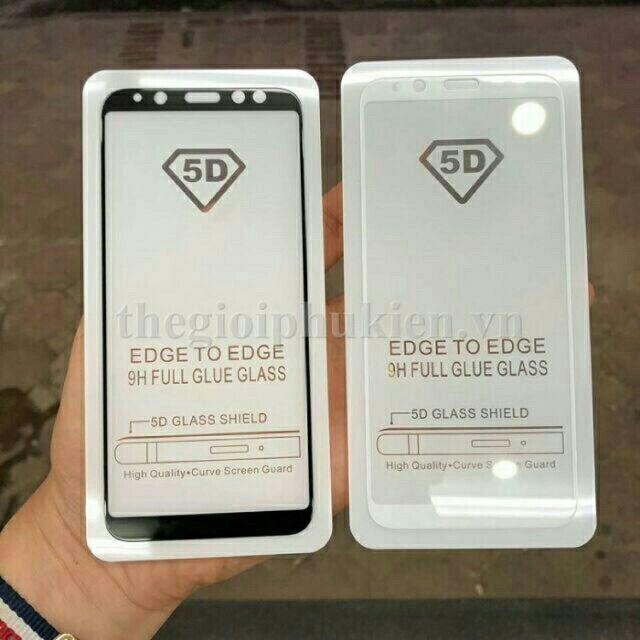 Kính cường lực 5D Galaxy A6 2018 Full keo toàn màn hình