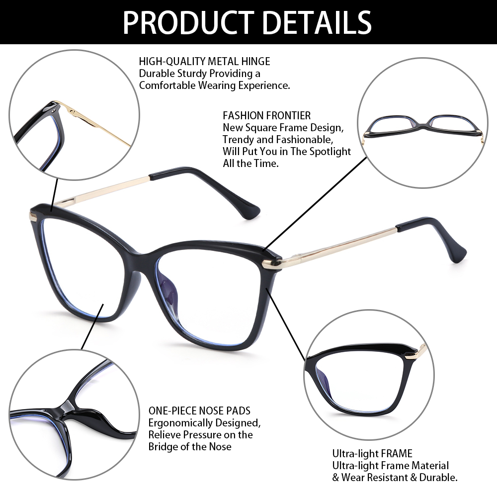 👗KAREN💍 Women & Men Computer Glasses Non-Prescription Eyeglasses Blue Light Blocking Glasses Reading Gaming Glasses Fashion Anti Eye Eyestrain Square...