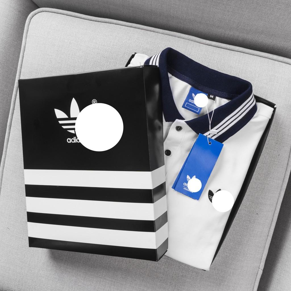 Áo Adidas [ FULL BOX, BILL HÃNG] Bảo hành 12 tháng | Polo Cổ 3 Sọc Trắng