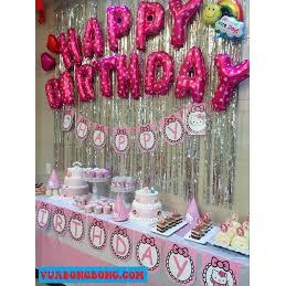 Rèm kim tuyến, rèm tua rua óng ánh, rèm trang trí sinh nhật kích thước 1m×2m