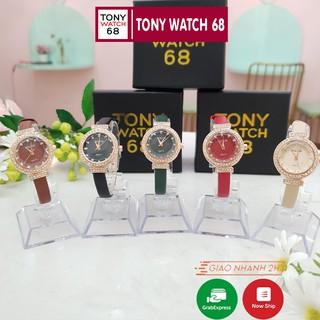 Đồng hồ nữ Bolun đẹp chính hãng dây da mặt viền đá chống nước Tony Watch 68 thumbnail