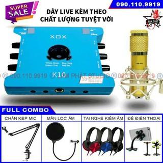 Sound card XOX K10 10th Bản 2020 Và Micro BM900 (Chính Hãng Có Mã Vạch)