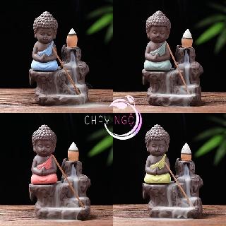 Thác Khói Trầm Hương Gốm Cao Cấp - Phật Tọa Bên Suối 1