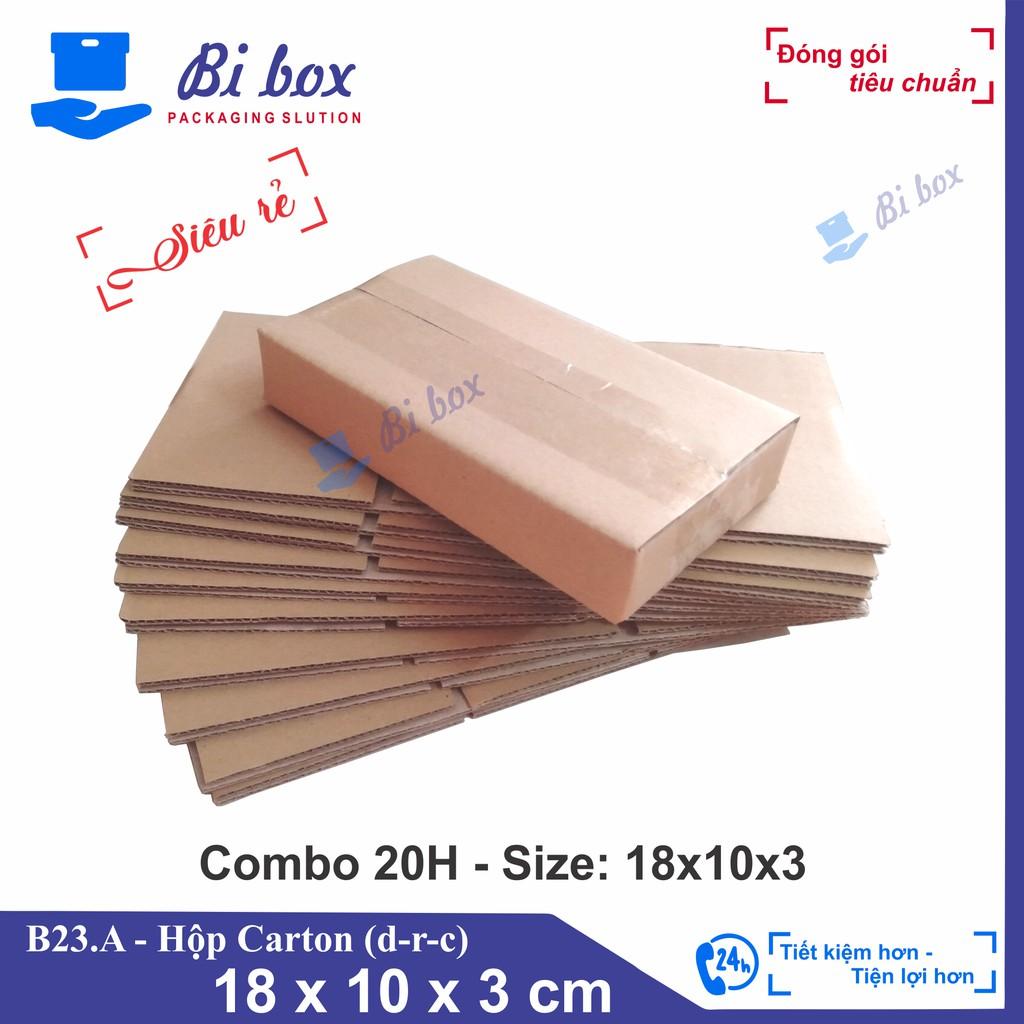 Combo 20 Hộp giấy 18x10x3 - Thùng Hộp carton đóng hàng