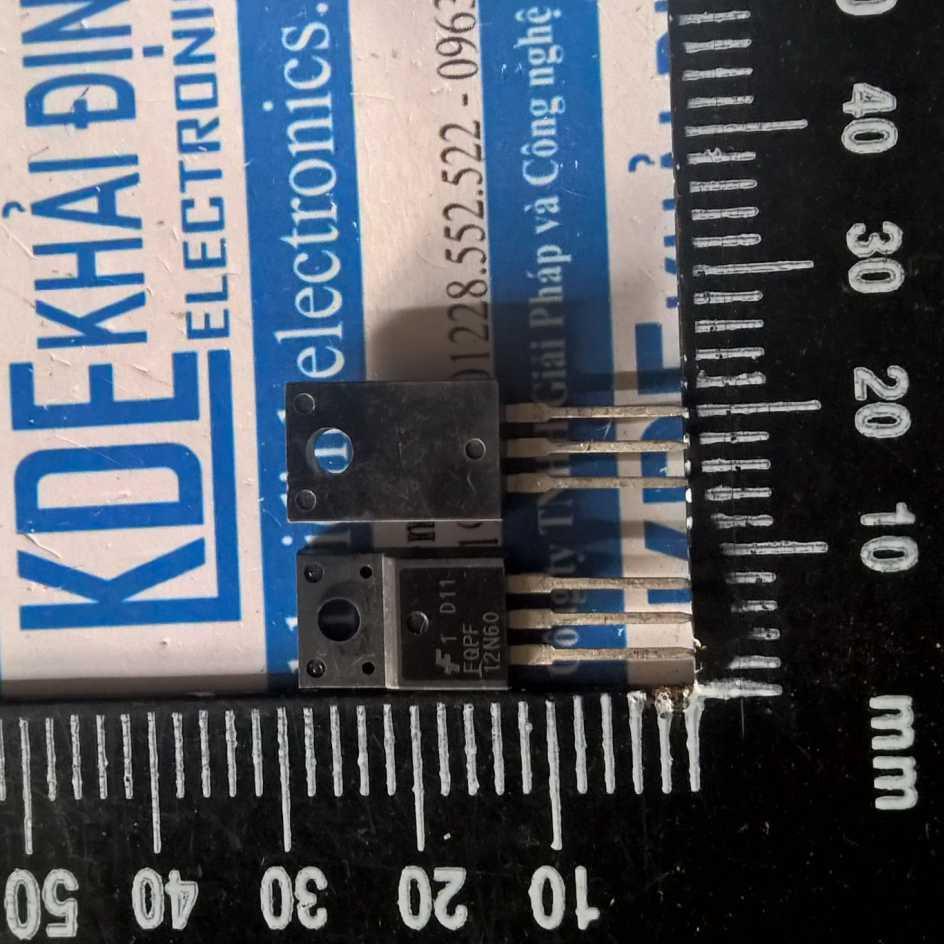 [HÀNG THẬT] 3 con FQPF12N60 【TO-220F】12A 600V N-CH MOSFET kde1577 HÀNG THẬT