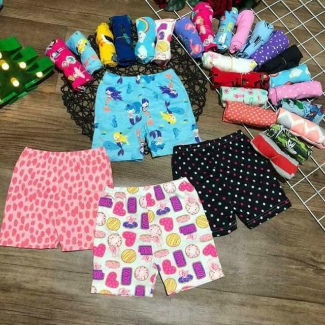 Set 10 quần cotton bozip cho bé