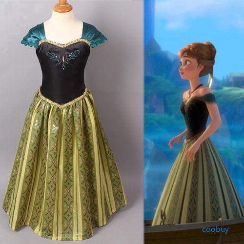 Đầm công chúa Anna sát nách cho bé gái