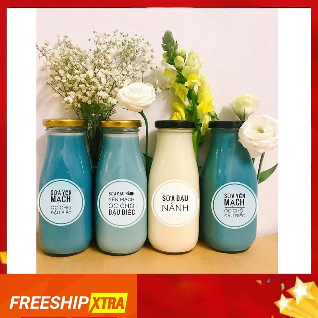 (GIÁ HỦY DIỆT)8 Chai thủy tinh đựng sữa hạt 200ml - 8 chai
