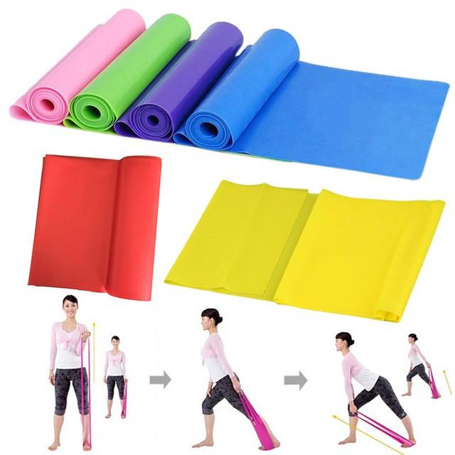 Dây đàn hồi kháng lực elastic band tập gym và yoga