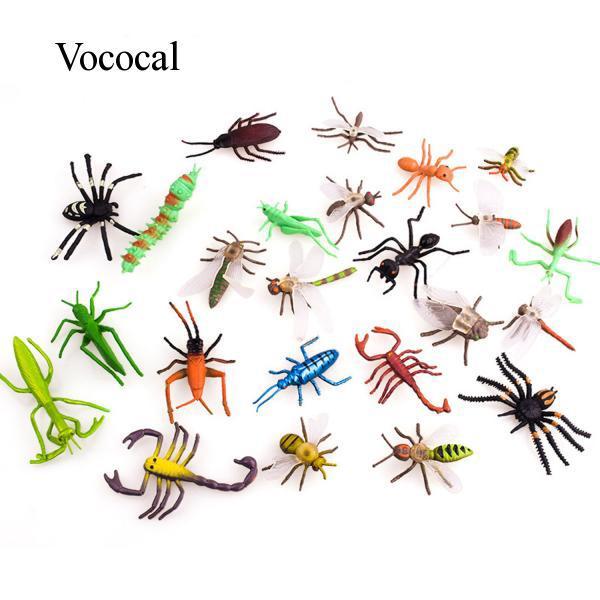 Vococal 12PCS Mini Simulation Insect Toys Kids Boys Educational Supplies Random