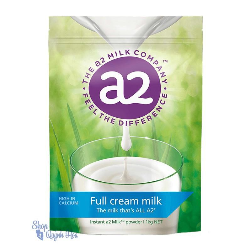 Sữa tươi dạng bột nguyên kem A2 Úc túi 1kg (Hàng nhập khẩu),HSD: 6