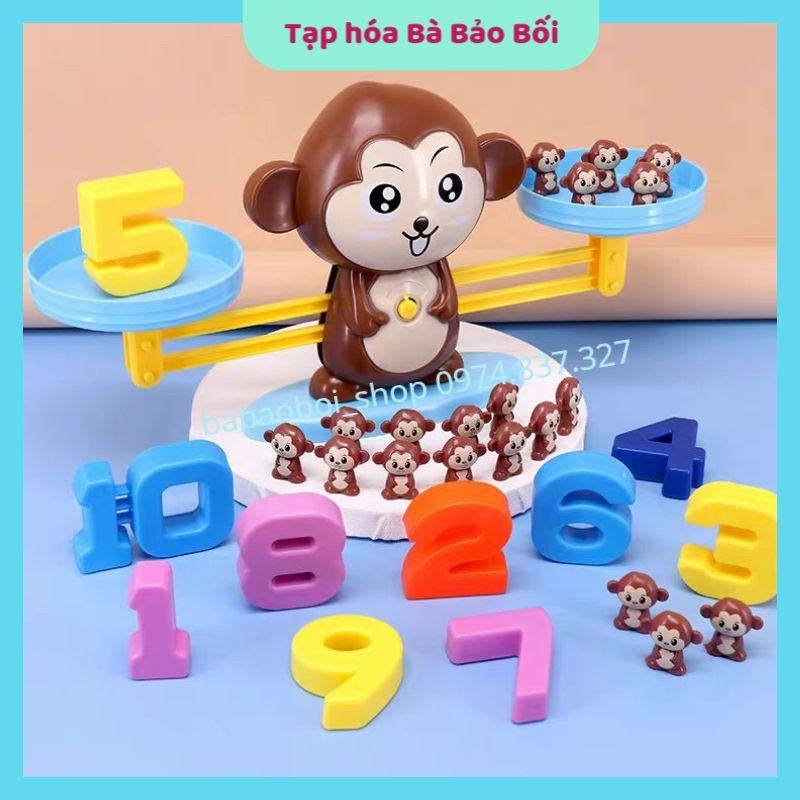 Bộ đồ chơi thông minh- Cân Khỉ Thăng Bằng Học Toán và Số Đếm cho bé – Monkey Balance