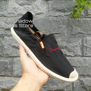 Slip on nam 2019 - Giày lười vải nam cao cấp Champion - Vải polyester màu đen, xám và trắng ngà - Mã SP 2923 thumbnail