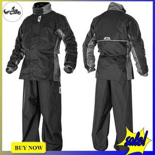 Bộ áo mưa Givi RRS06 màu xám đen được làm từ chất liệu Polyester hàng chính hãng cao cấp
