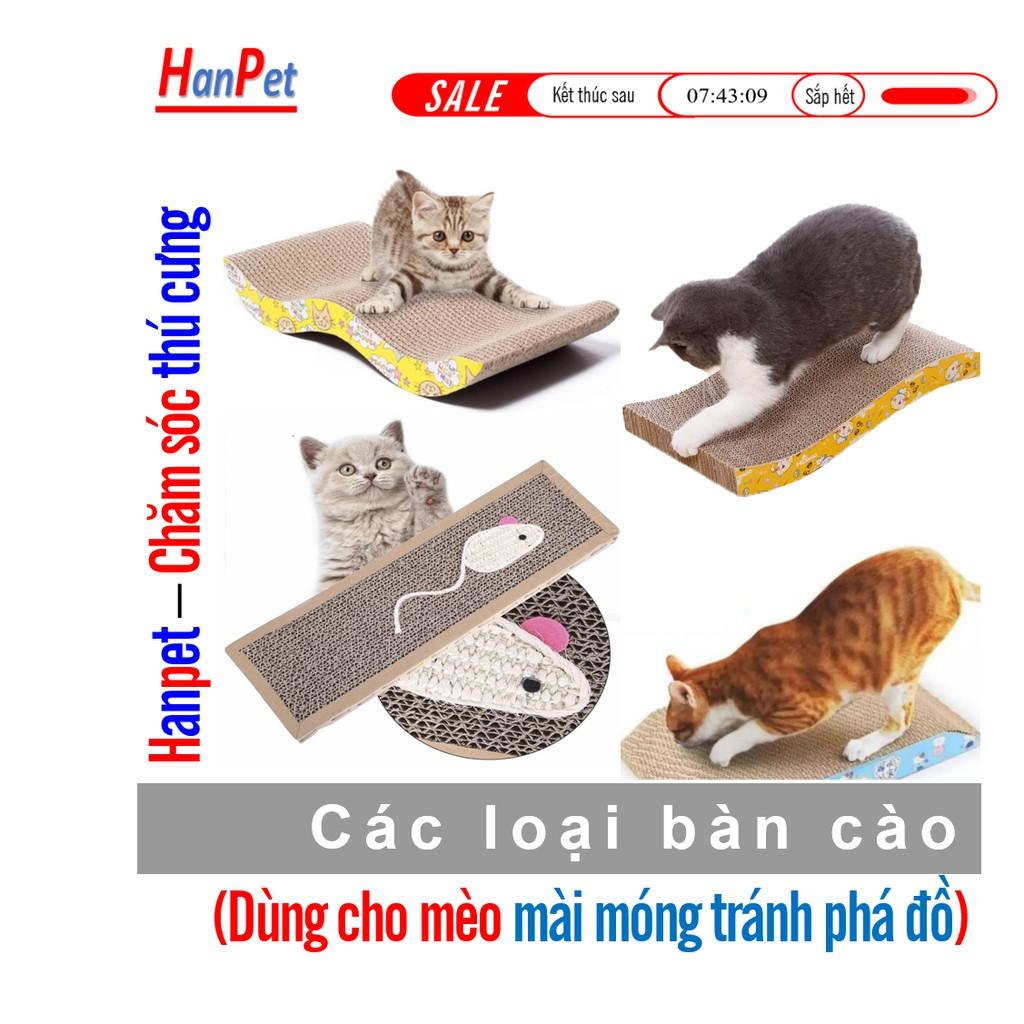 Cào móng mèo 5 loại bàn cào móng cho mèo bằng giấy cứng đồ mài móng cho mèo Vát 2 đầu