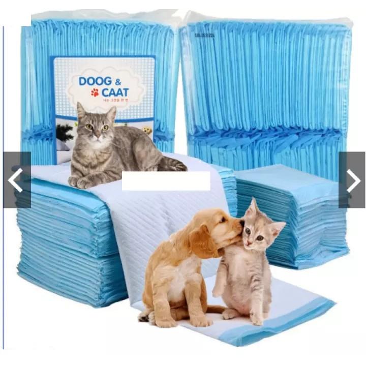 HN (2 loại) - Bỉm chó dạng tã giấy dạng miếng (1 bịch) giấy lót chuồng khay chó mèo|Size M 45x60cm