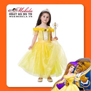 V778 Váy công chúa Bella Disney Người đẹp và quái vật size 13-34kg