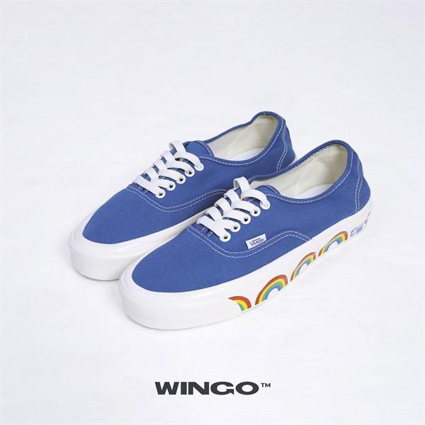 (giày chính hãng)Vans Authentic Anaheim Factory Dx Estate Blue Rainbow Sidewall
