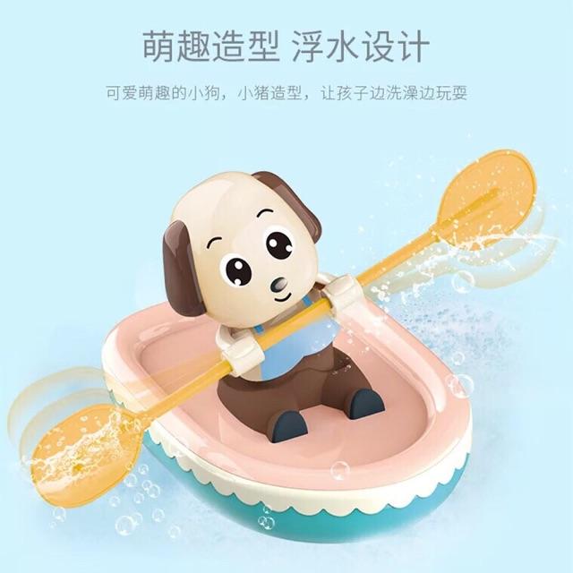 Chú chó chèo thuyền