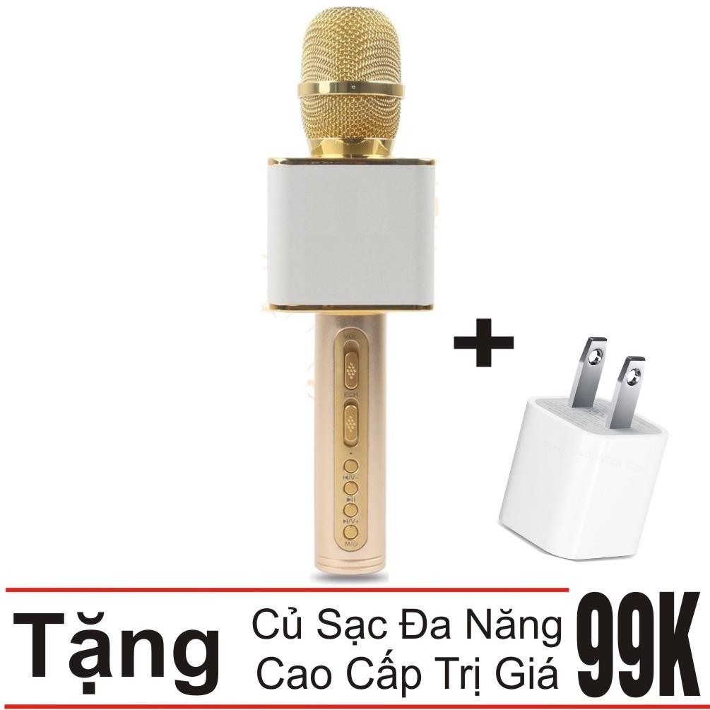 Combo Mic hát karaoke Bluetooth SD-08 bản 2018 Khang Nhung + Củ sạc đa năng