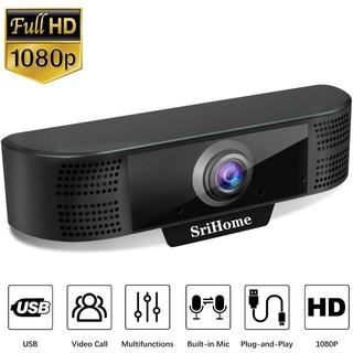 [Mã ELOCT10K giảm 10k]Webcam Srihome SH037, FullHD 1080P, tích hợp mic, tự động điều chỉnh ánh sáng