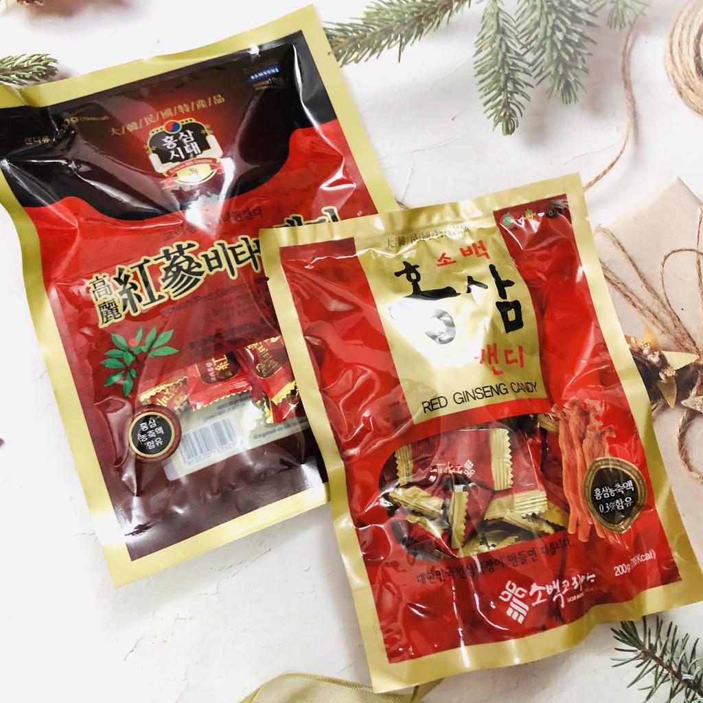 Kẹo sâm vitamin Hàn Quốc loại ngon gói 200g