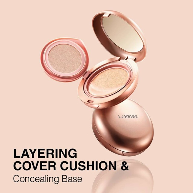 Phấn Nước Laniege Layering Cover Cushion & Concealing Base 16.5g