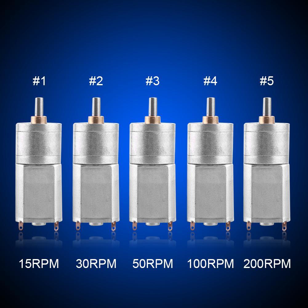 30RPM Nitrip DC 12V High Torques Electric Gear Reduction Motor 15RPM 50RPM 200RPM 15~200RPM Outer Diameter 20MM 100RPM 15RPM