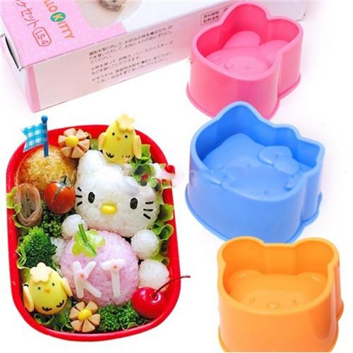 Combo 3 khuôn ép cơm mèo kitty, thỏ, gấu cho bé
