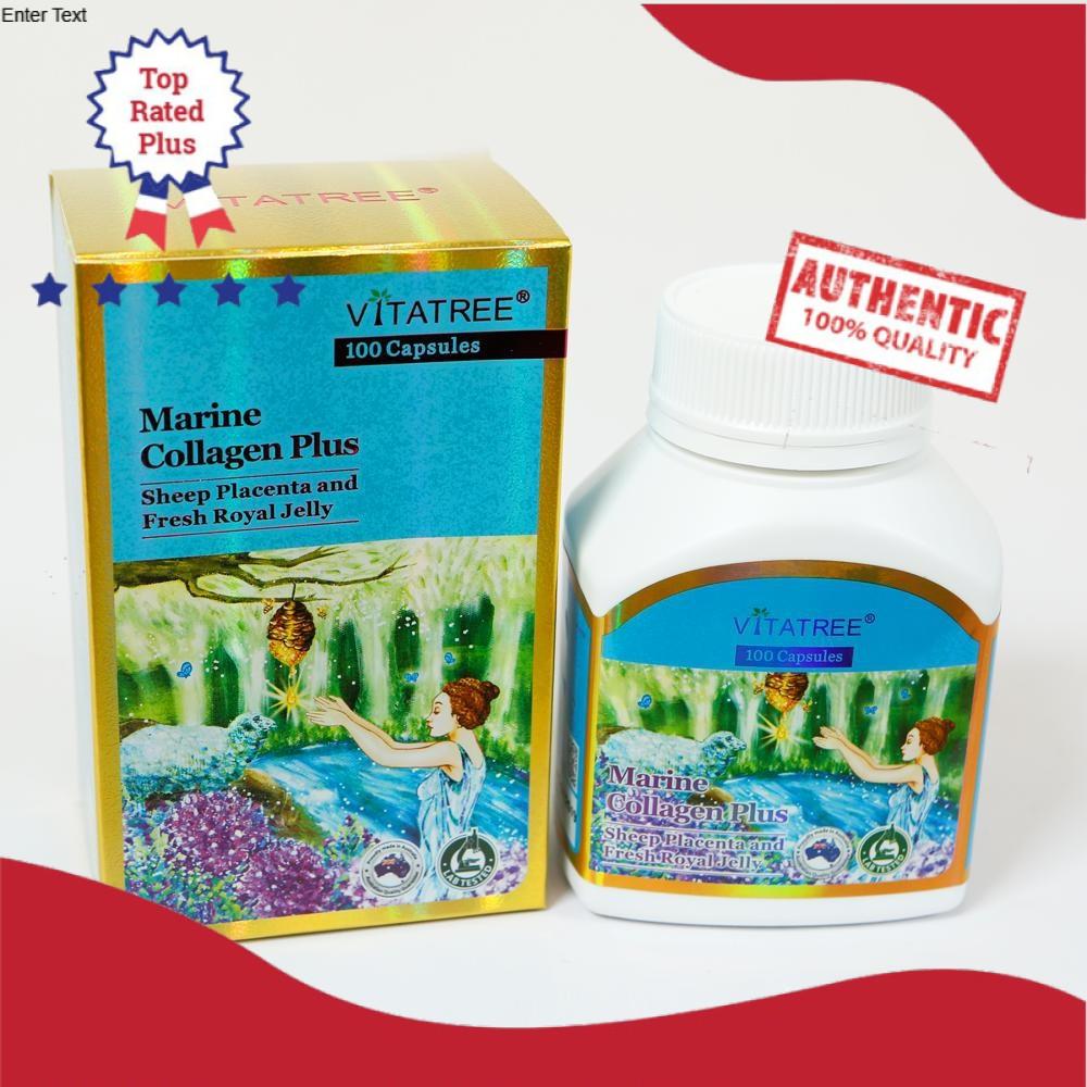 Viên Uống Trắng Sáng Da VITATREE Marine Collagen Plus - 100 Viên