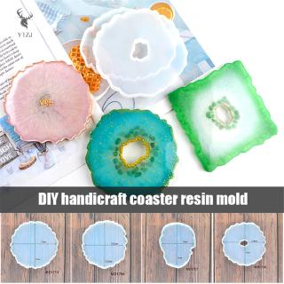COD& Agate Coasters Resin Casting Mold Silicone Jewelry Making Epoxy Mould Craft Tools &VN